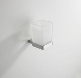 Wiesbaden Eris glashouder vierkant met glas chroom