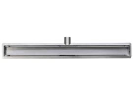 Wiesbaden RVS douchegoot met flens, uitneembare sifon en tegelrooster 50-120 cm