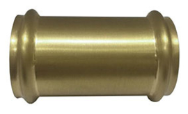 geborsteld messing koppelstuk 32mm tbv vloerbuis