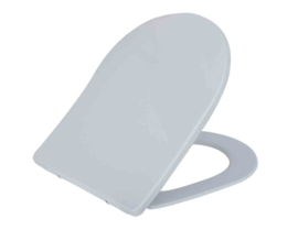 Wiesbaden Shade Slim toiletzitting + deksel one-touch wit