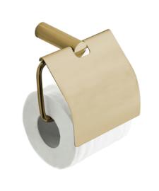 Ida toiletrolhouder met klep geborsteld messing