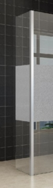 Wiesbaden zijwand met hoekprofiel +1/3 mat glas (35 cm) 10 mm glas