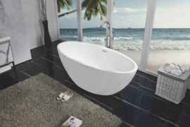 Oval vrijstaand ligbad acryl 170x78 mat-wit