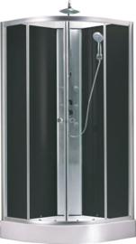Jupiter complete douchecabine 90x90x225 cm alu mat 5mm glas