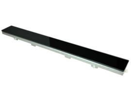 Wiesbaden glasrooster zwart 50-100 cm