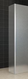 Wiesbaden zijwand + hoekprofiel (35 cm) 10 mm volledig mat glas