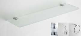 Wiesbaden Ida accessoire set 2: handdoekring, planchet, tandenborstelhouder en zeepdispenser, chroom