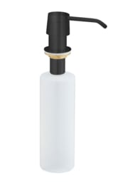 inbouw zeeppompje mat zwart kunststof fles 250ml