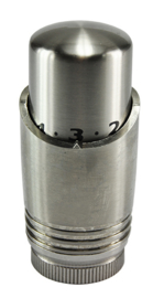 Riko luxe thermostaatknop M-30 geborsteld staal