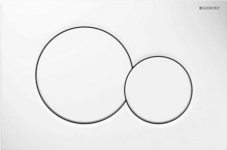 Geberit Sigma 01 dubbele drukplaat wit