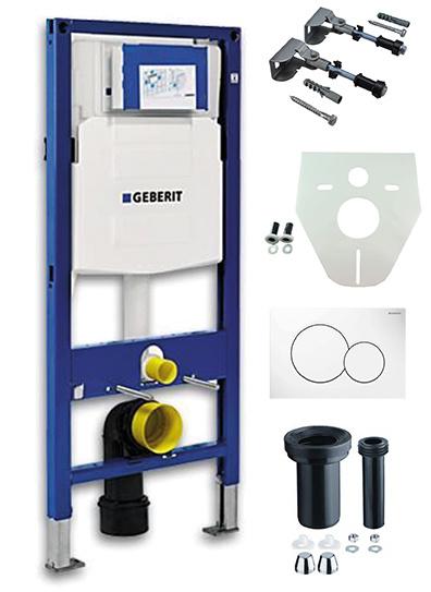 Geberit UP-320 inbouwreservoir + Sigma-01 drukplaat wit