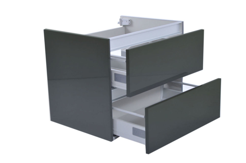Wiesbaden Vision onderkast hoogglans grijs 60x46x50, 80x46x50 of 100x46x50 cm