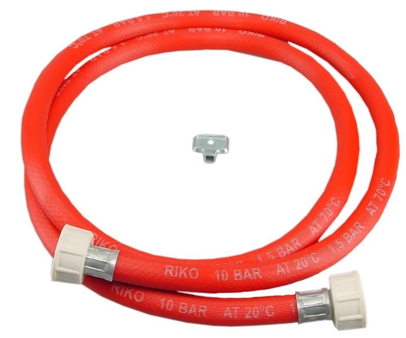 """Vulslangset rood + 3/4"""" wartels recht 150 cm of 350"""