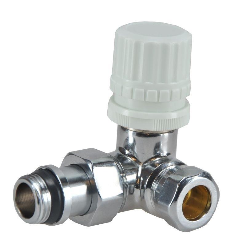 """Riko thermostaatventiel 1/2""""x15 mm (M-22) knel haaks, links of rechts"""