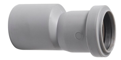 PVC verloopmof 40x50 lijm x manchet (tbv douchegoot)