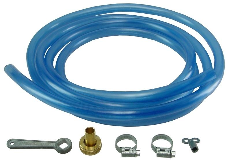 Vulslangset blauw + vulsleutel 500 cm