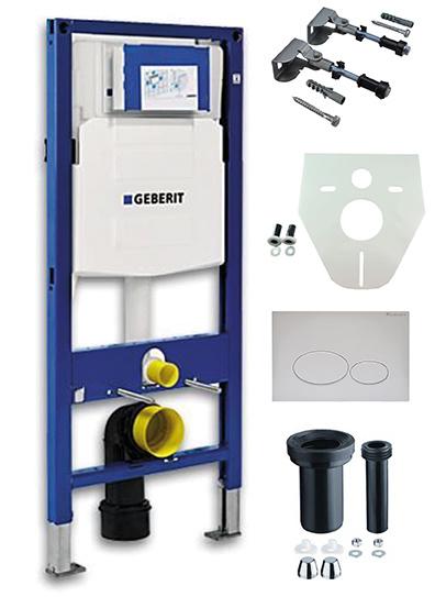 Geberit UP-320 inbouwreservoir + drukplaat wit