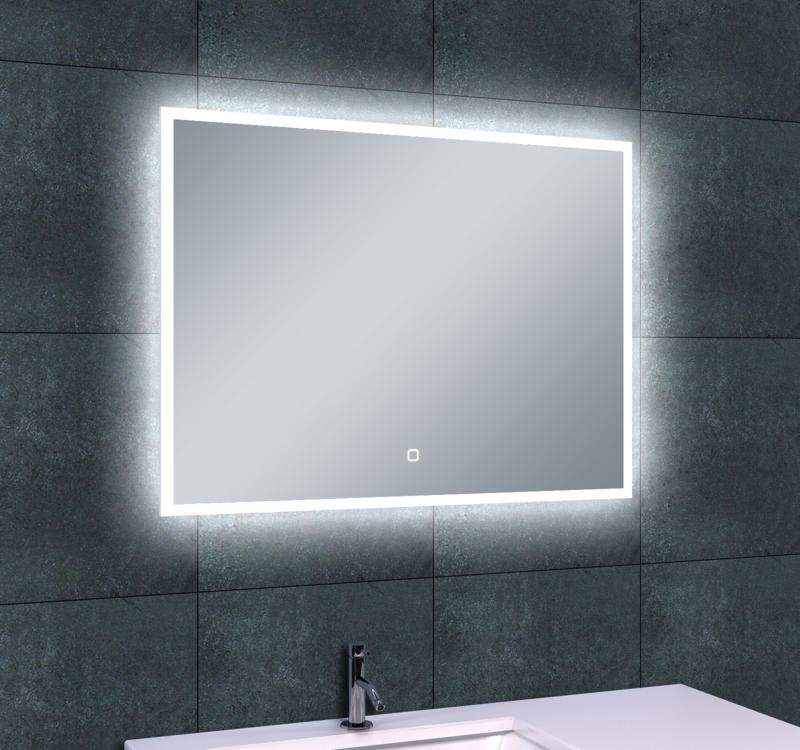 Wiesbaden Quatro LED condensvrije spiegel 80x60x4,3 cm