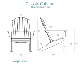 Classic Cabane chair Driftwood