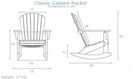 Classic Cabane rocker white