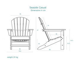 Seaside Casual shellback chair -  Natural