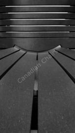 LeisureLine Adirondack chair- Black