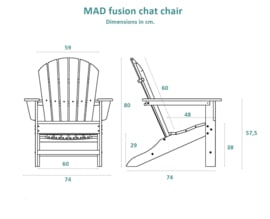 MAD fusion chat chair - Cherry (18289)