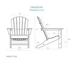 LeisureLine Adirondack  - Tan