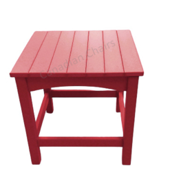 Loggerhead side table Cherry red
