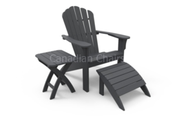 Harborview  footrest Charcoal (07341)