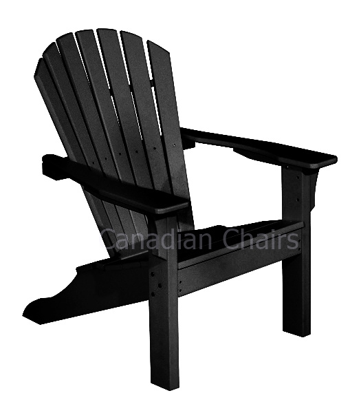 Combo deal: Seaside Casual adirondack chair and  footrest in black