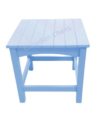 Cabane side table powder blue