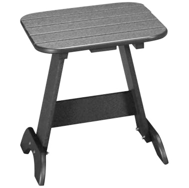 Adirondack end table charcoal
