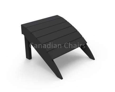 Seaside Casual Footrest  Black (06028)