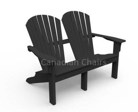 Seaside Casual Adirondack Duoseat - Black