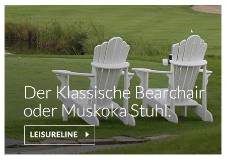 Bearchair oder Muskoka Stuhl aus recyceltem Kunststoff gefertigt, polywood, envirowood