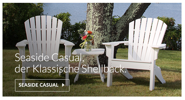 Seaside Casual Shellback Adirondack Stuhl aus recyceltem Kunststoff gefertigt, polywood, envirowood
