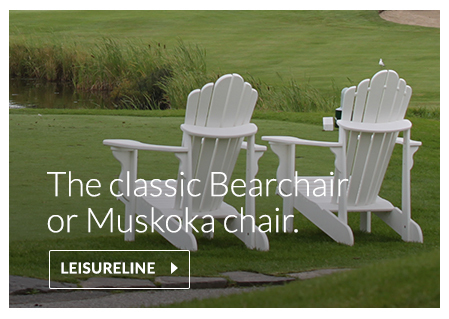 Bearchair or Muskoka chair made of recycled plastics, HDPE
