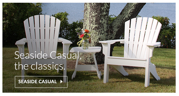 Seaside Casual Shellback Adirondacks made of recycled plastics HDPE envirowood