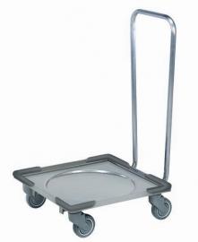 Trolley Stainless Steel voor korven met handvat