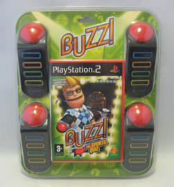 Buzz! The Sports Quiz + Buzzers Bundle (PAL, Sealed)