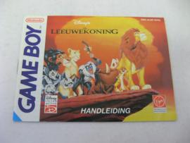 Disney's Leeuwekoning / Lion King *Manual* (NHOL)