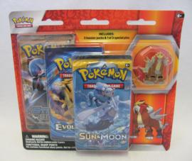Pokémon TCG: Legendary Beasts - Entei - Collector's Pin 3 Pack (New)