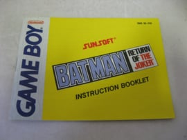 Batman Return of the Joker *Manual* (USA)