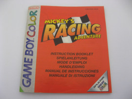 Mickey's Racing Adventure *Manual* (NEU6)