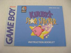 Kirby's Star Stacker *Manual* (USA)