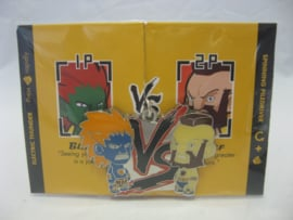 Street Fighter Enamel Keychain - Blue Blanka vs Blue Zangief - Kidrobot (New)