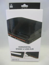 PS3 Horizontal Stand & USB Hub - 4Gamers (New)
