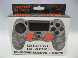 PlayStation 4 Silicone Sleeve & Grips 'Digital Black' (New)