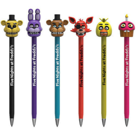 Five Nights at Freddy's - Collectible Pens with Toppers - Set of 6 (New)